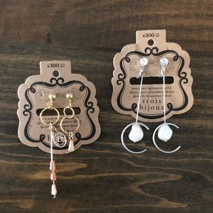 2 sets Japanese adorable clip on earrings